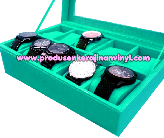 Kerajinan Box Jam 10 Pcs Warna Tosca